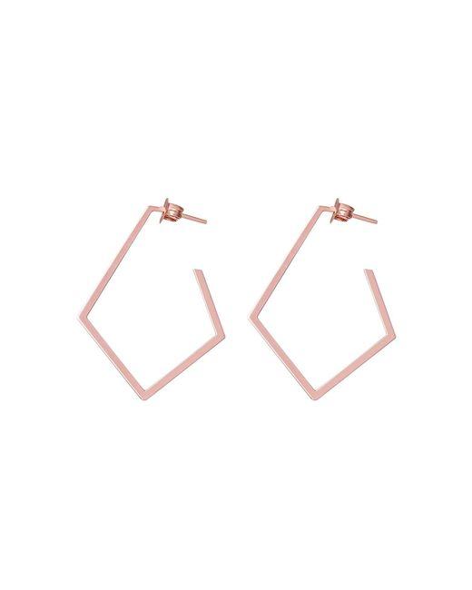 Dutch Basics - Multicolor Ruit Creole Earrings Rose Gold - Lyst