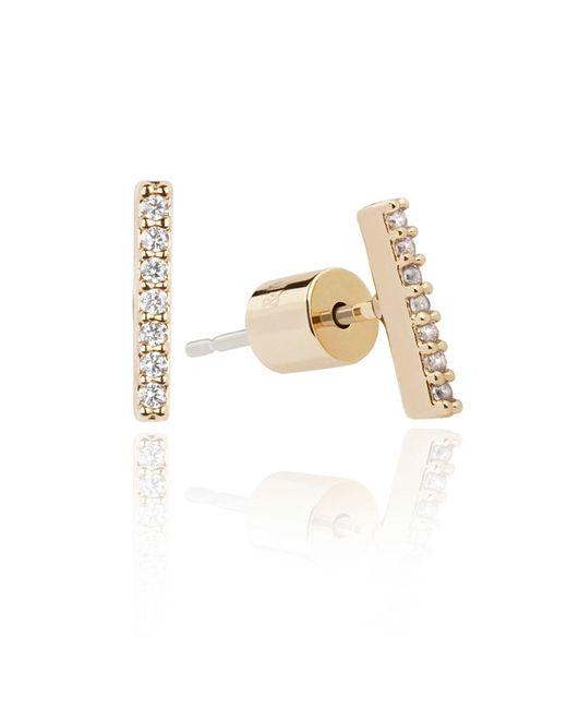 Astrid & Miyu - Metallic Hold On Small Bar Earrings In Silver - Lyst