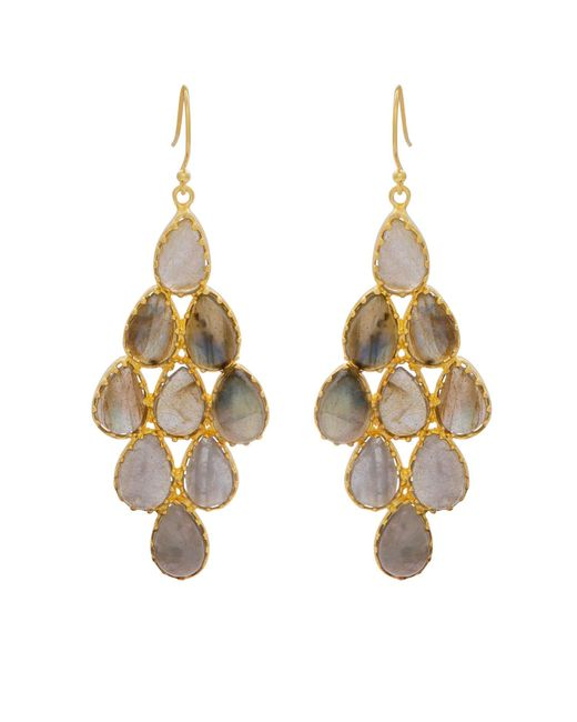 Carousel Jewels - Metallic Labradorite And Gold Statement Earrings - Lyst