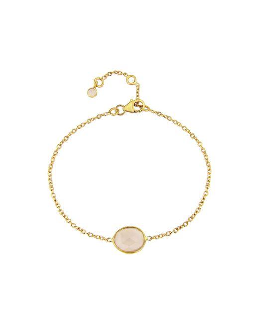 Auree Jewellery - Metallic Yellow Gold Plated Cuvette Gemstone Bracelet - Lyst