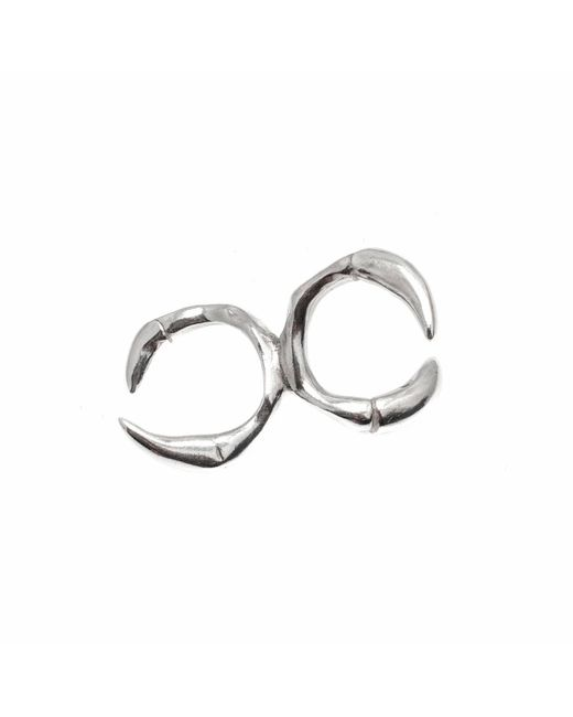 Kim Keohane - Metallic Sterling Silver Claw Knuckle Duster - Lyst