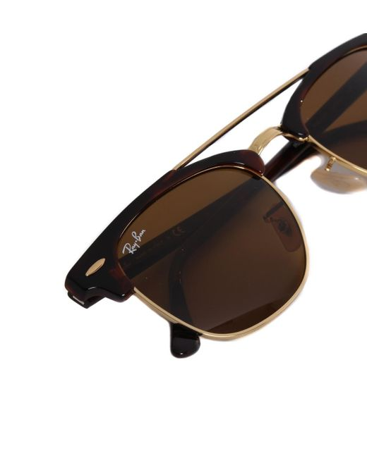 9c2dc84df1f29 ... purchase ray ban metallic ray ban clubmaster double bridge gold  sunglasses for men 63dd8 0a5c8