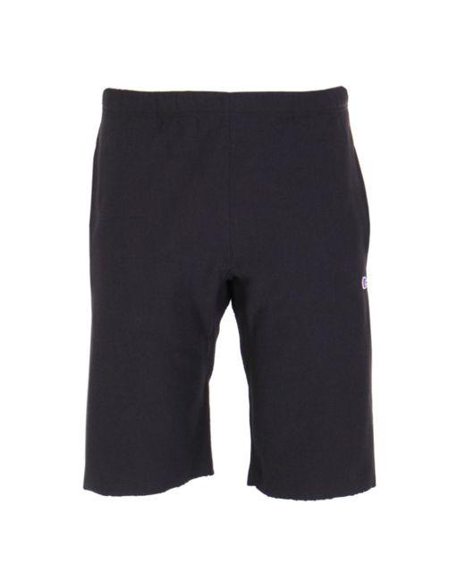 Champion - Black Bermuda Sweat Short for Men - Lyst