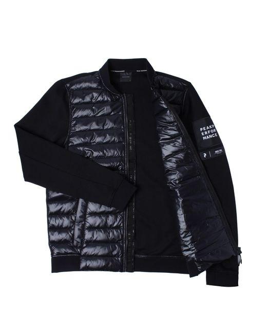 e25472016 Peak Performance Padded Nylon Black Bomber Jacket in Black for Men ...