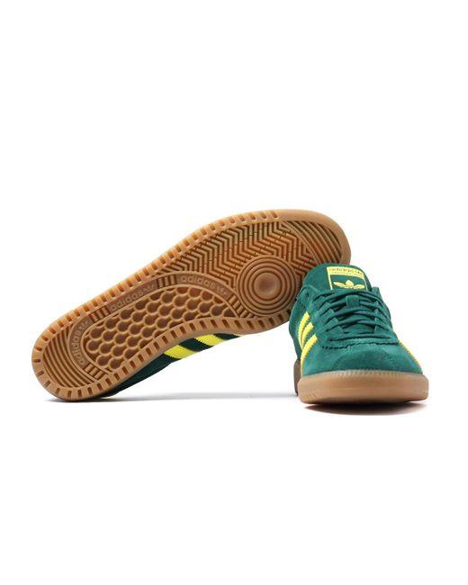 ... Lyst Adidas Originals - Bermuda Collegiate Green   Shock Yellow Trainers  for Men ... 41469aaf8