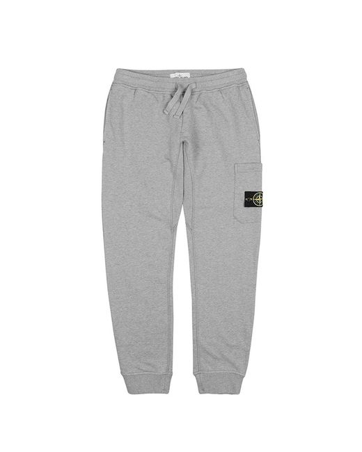 Stone Island - Gray French Terry Pocket Sweatpants for Men - Lyst
