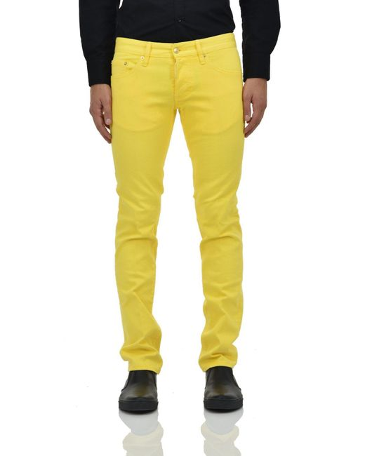 418ed42a963 DSquared² - Yellow 2 Slim Jean Golden Inserts for Men - Lyst ...