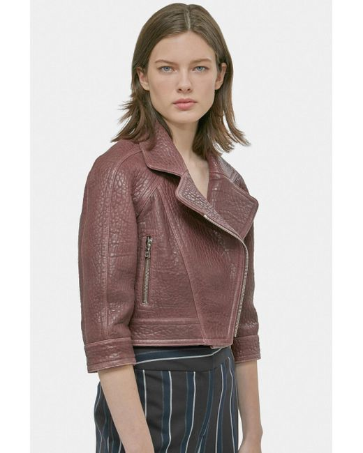 Yigal Azrouël - Multicolor Cropped Moto Jacket - Lyst