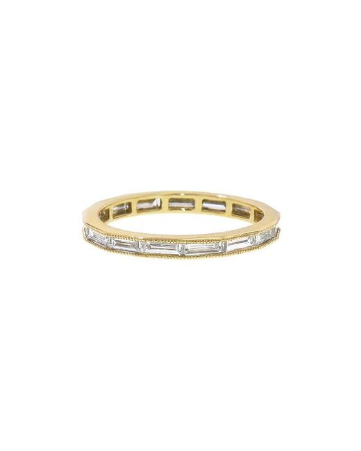 Sethi Couture - Metallic Channel Set Baguette Band Ring - Lyst