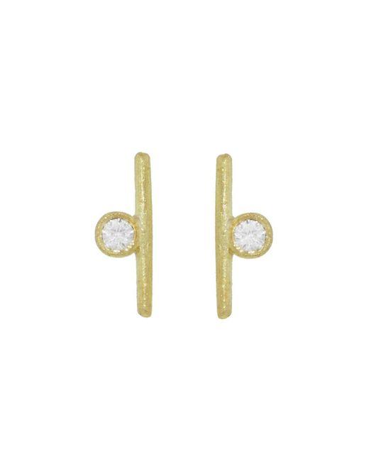 Tate - Multicolor Diamond Circle And Stick Stud Earrings - Lyst