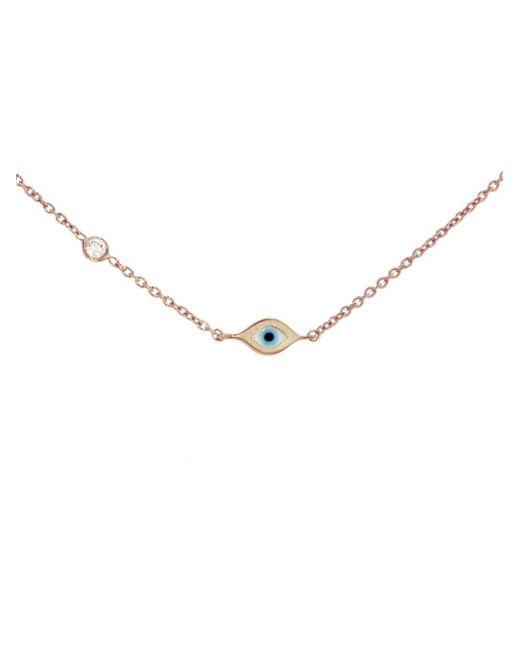 Sydney Evan - Metallic Mini Enamel Evil Eye Necklace - Lyst