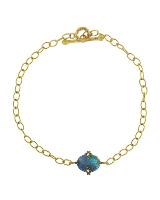 Cathy Waterman - Multicolor Oval Boulder Opal Chain Bracelet - Lyst