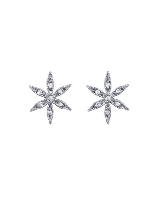 Cathy Waterman - Multicolor Diamond Star Flower Stud Earrings - Lyst