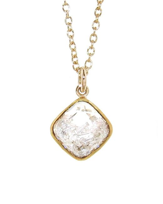 Moritz Glik - Multicolor Floating Diamonds Square Pendant Necklace - Lyst