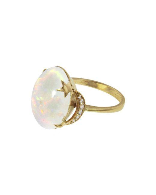Andrea Fohrman - Multicolor Opal Crescent Moon And Star Ring - Lyst