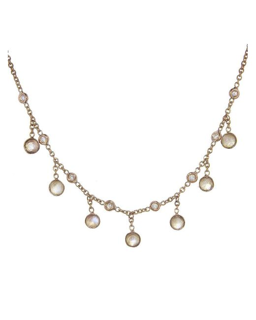 Jacquie Aiche - Multicolor Diamond And Moonstone Beaded Necklace - Lyst