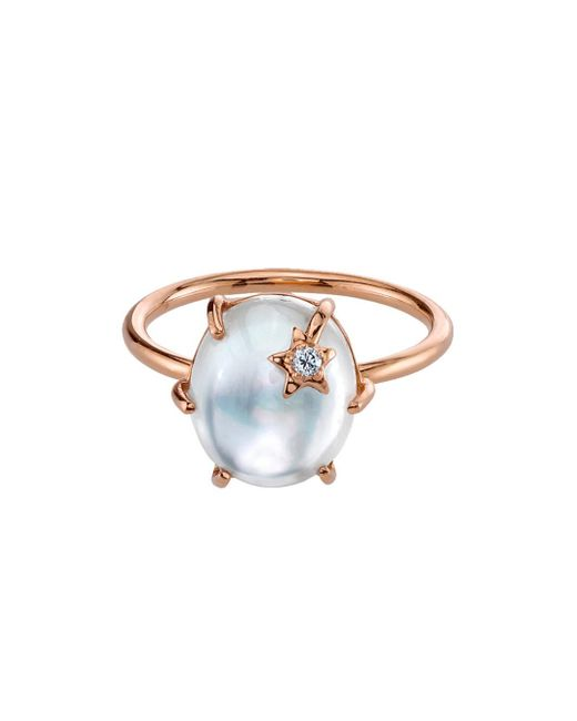 Andrea Fohrman - Multicolor White Mother Of Pearl Mini Galaxy Star Ring - Lyst