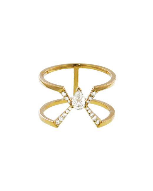 Raphaele Canot - Metallic Diamond Deco Ring - Lyst