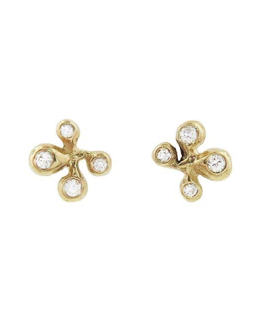 Ten Thousand Things - Metallic Diamond Pavé Molten Cluster Stud Earrings - Lyst
