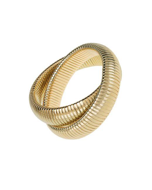 Janis Savitt - Metallic High Polished Gold Double Cobra Bracelet - Lyst
