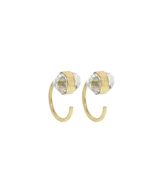 Melissa Joy Manning - Metallic Tiny Herkimer Diamond Hug Earrings - Lyst