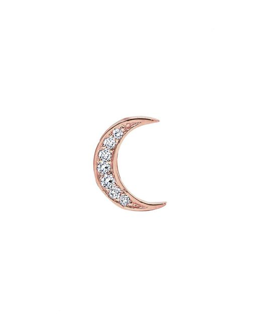 Andrea Fohrman - Multicolor Diamond Moon Single Stud Earring - Lyst