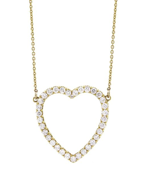 Jennifer Meyer - Metallic Open Heart Diamond Necklace - Lyst