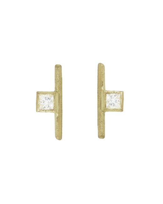 Tate - Multicolor Square Diamond Stick Stud Earrings - Lyst