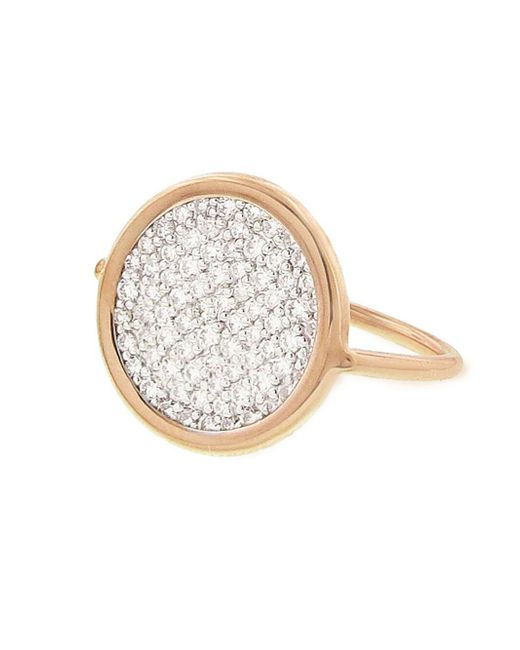 Ginette NY - Metallic Small Diamond Disc Ring - Lyst