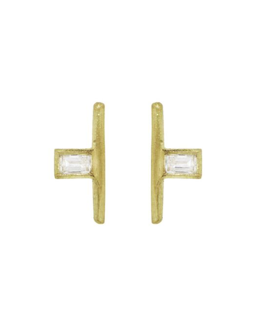 Tate - Multicolor Small Baguette Diamond Stud Earrings - Lyst