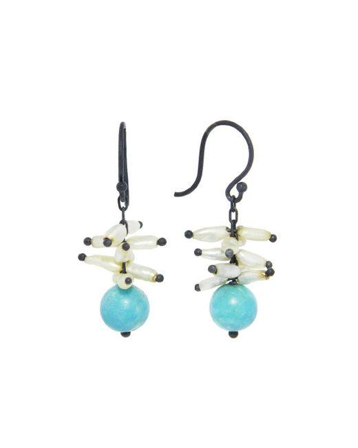 Ten Thousand Things - Metallic Keshi Pearl Spike Earrings With Turquoise - Lyst