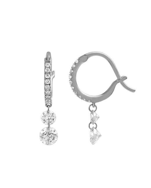 Raphaele Canot - Multicolor Double Diamond Set Free Mini Hoop Earrings - Lyst