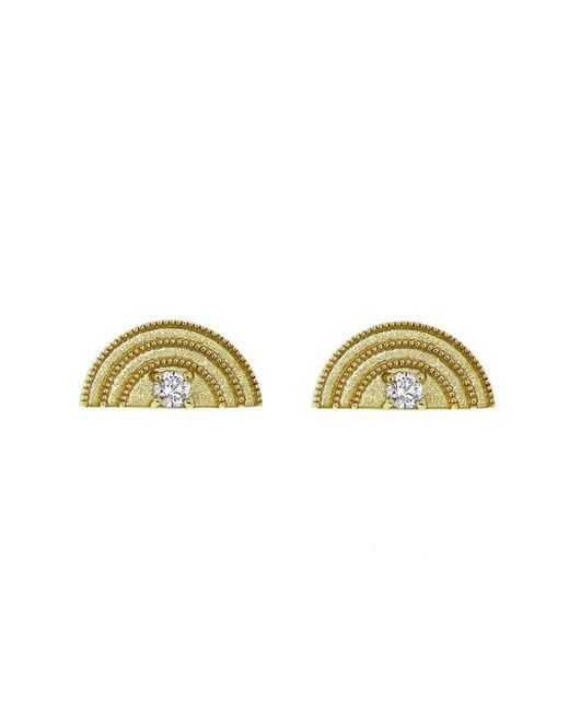 Andrea Fohrman - Multicolor Tiny Diamond Rainbow Stud Earrings - Lyst