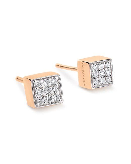 Ginette NY - Multicolor Mini Diamond Ever Stud Earrings - Lyst