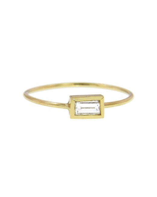 Jennifer Meyer - Metallic Diamond Baguette Stacking Ring - Lyst