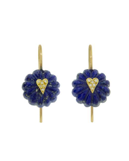Cathy Waterman - Blue Lapis Heart Bead Earrings - Lyst