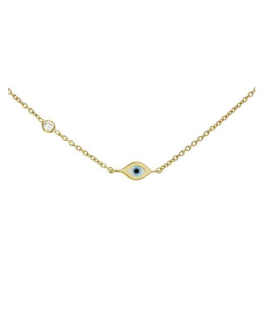 Sydney Evan - Metallic Mini Evil Eye Necklace - Lyst