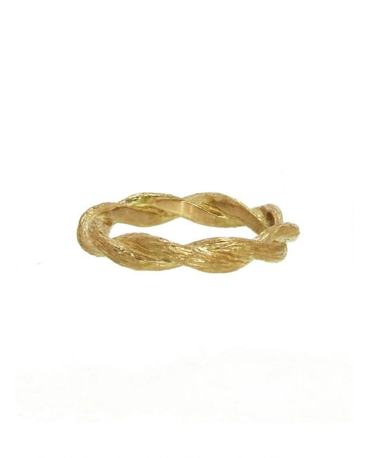 Cathy Waterman - Multicolor Twisted Branch Band Ring - Lyst