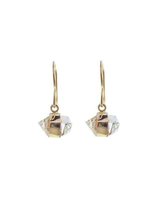 Melissa Joy Manning - Metallic Herkimer Diamond Bezel Wrap Drop Earrings - Lyst