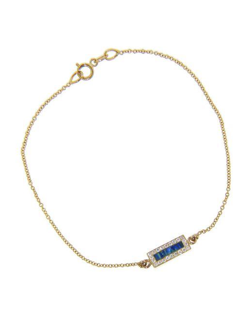 Jennifer Meyer - Multicolor Opal Inlay And Diamond Bar Bracelet - Lyst