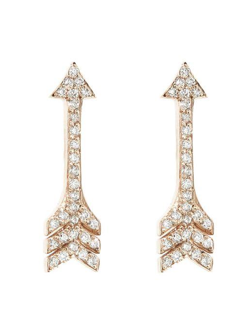 Jennifer Meyer - Metallic Diamond Arrow Stud Earrings - Lyst