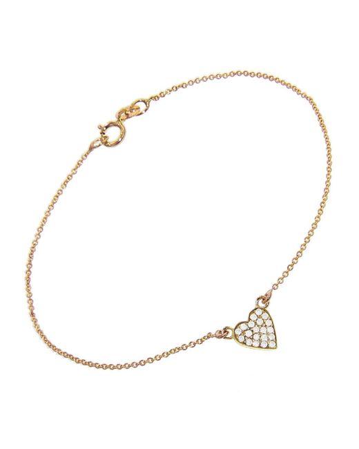 Jennifer Meyer - Metallic Diamond Heart Bracelet - Lyst