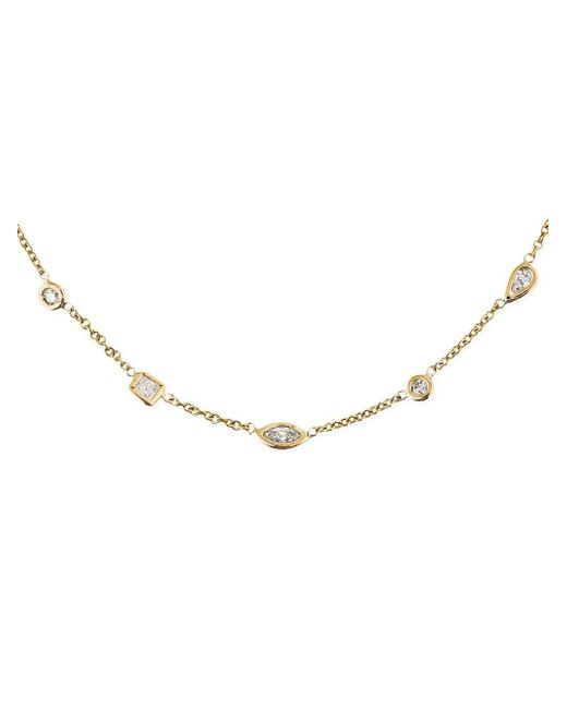 Jacquie Aiche - Multicolor Geometric Diamond Necklace - Lyst