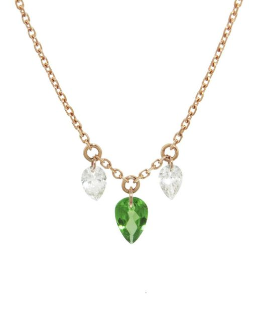 Raphaele Canot - Multicolor Set Free Tsavorite And Diamond Necklace - Lyst