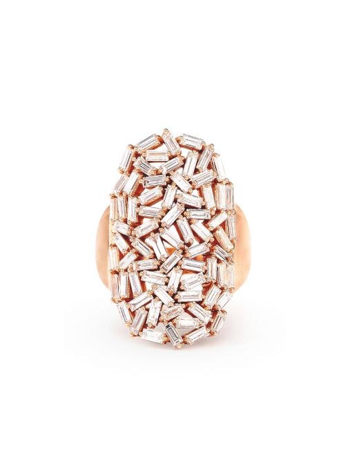 Suzanne Kalan - Multicolor White Diamond Baguette Starburst Ring - Lyst