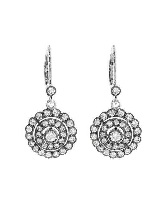 Sethi Couture - Multicolor Scalloped Round Diamond Drop Earrings - Lyst