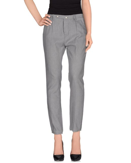 Jfour | Gray Casual Trouser | Lyst