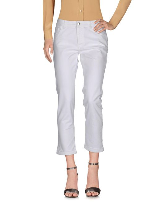 Paolo Tonali | White Casual Trouser | Lyst