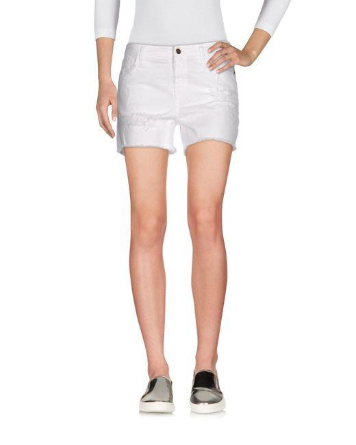 Met | White Denim Shorts | Lyst