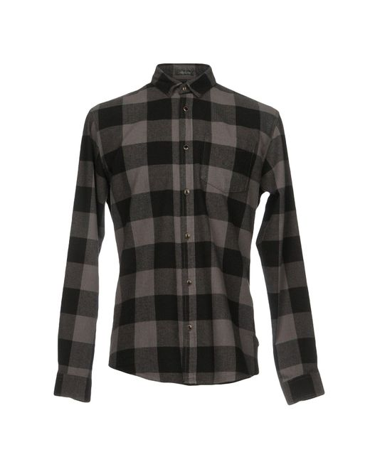 Originals By Jack & Jones - Gray Shirts for Men - Lyst